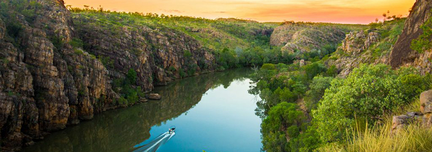 Katherine Gorge at dusk
