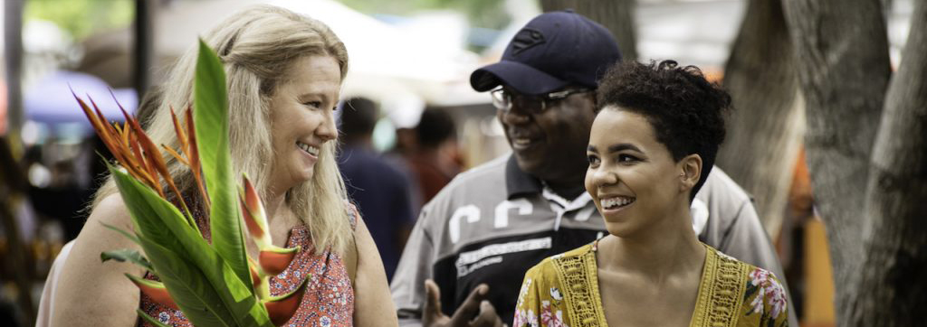 Kellene Lambert and family at the markets