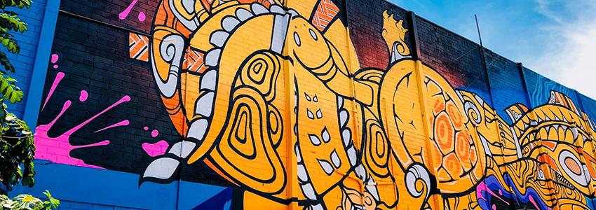 Darwin City street art mural