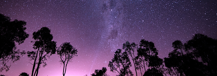 Night sky over the outback