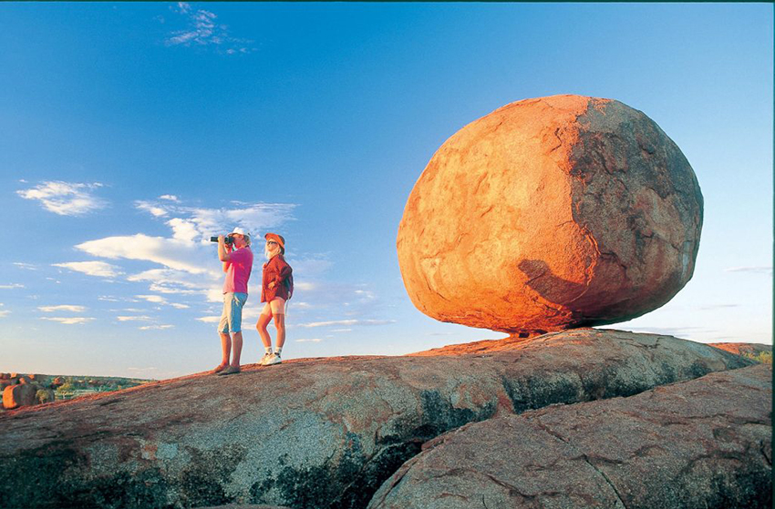 Hikers at the Devils Marbles