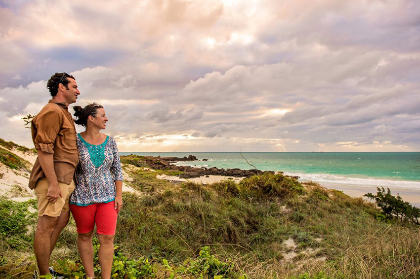Couple look at the sunset in Nhulunbuy