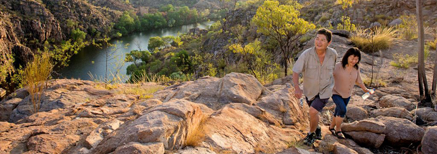 Couple hiking in Katherine
