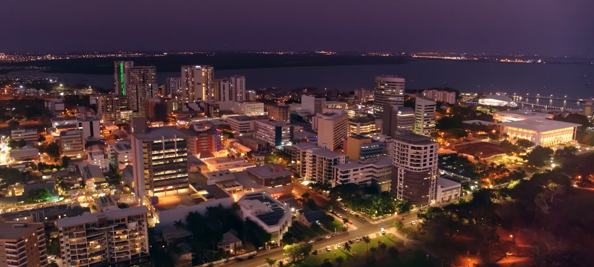 Darwin city at night
